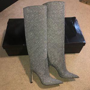 NWT✨ JIMMY CHOO|Mavis Plaid Knee High Boot